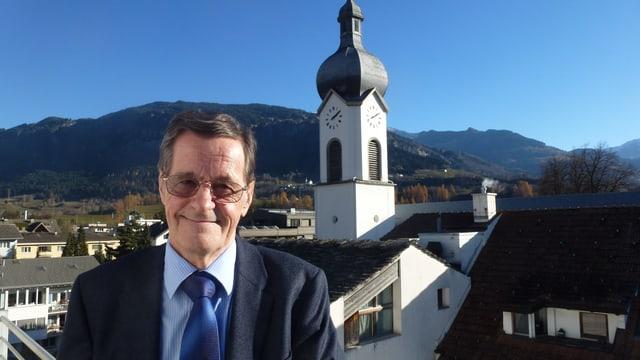 Werner Degonda, il president da la vischnanca burgaisa da Ilanz/Glion.