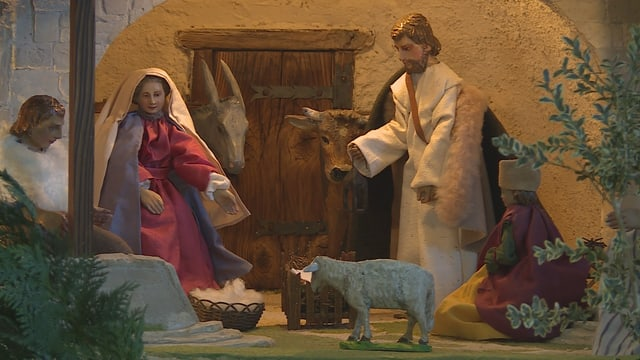 Bov ed asen en la stalla da Nadal (Baselgia claustrala Mustér)