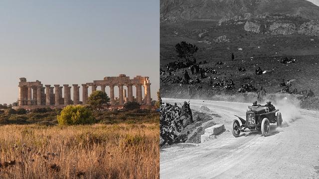 griechische Tempel und Targa Florio