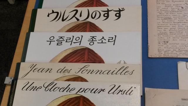 Il cudesch Uorsin en differentas linguas.