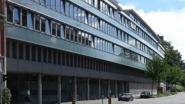 Die Fassade des Gebäudes der Staatsanwaltschaft an der Heuwaage.