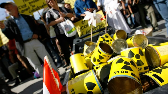 Protest gegen Atomenergie in der Schweiz