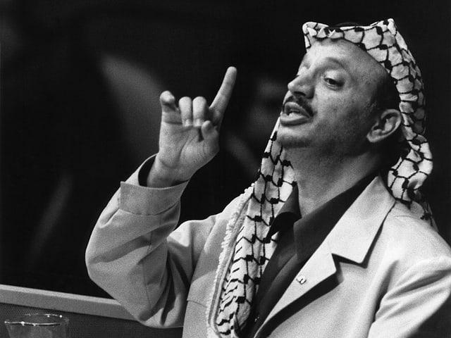 Arafat spricht vor der UNO-Vollversammlung