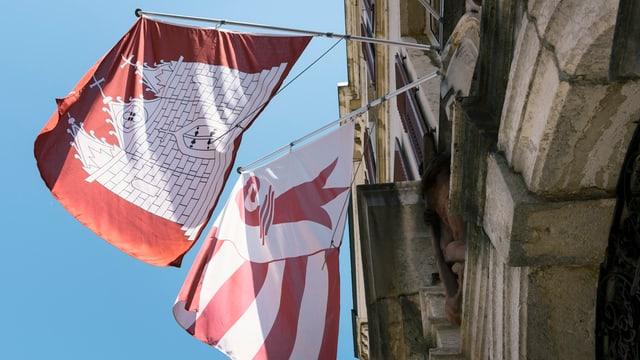 Flagge Moutier und Jura