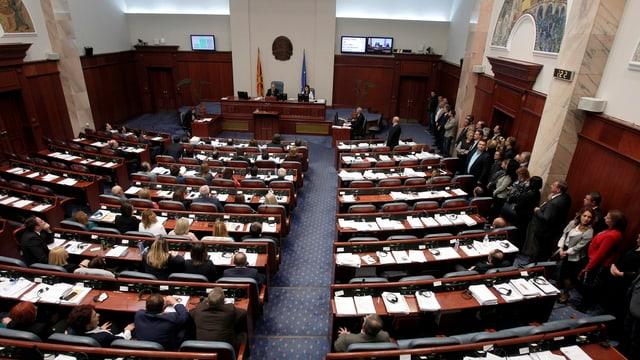 Das Parlament in Mazedonien.