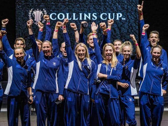 Die Athletinnen und Athleten des Team Europe.