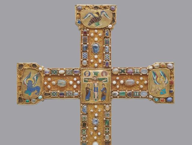 Abbildung eines goldenen Kreuzes.
