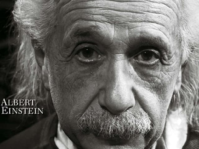 Schwarz-weiss-Porträt von Albert Einstein