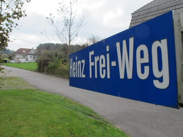 Strassentafel Heinz Frei-Weg