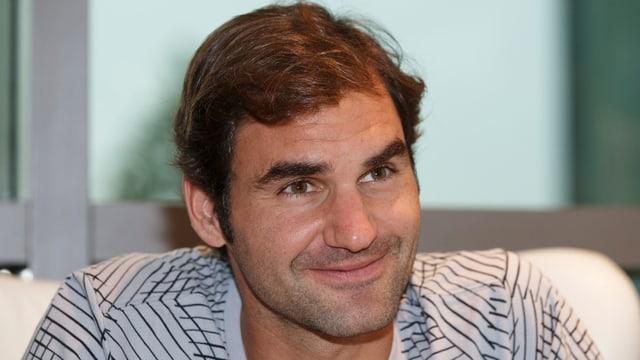 Porträt von Roger Federer.