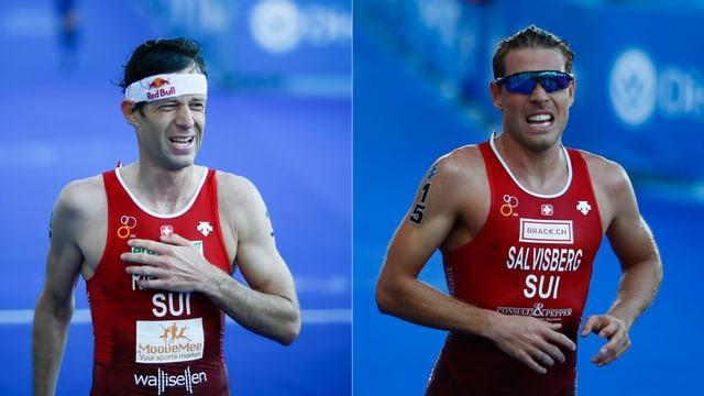 Die Triathleten Sven Riederer und Andrea Salvisberg.