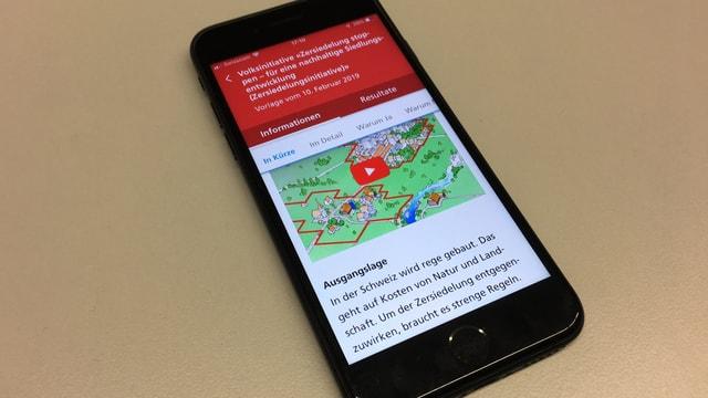 In'app averta sin in smartphone