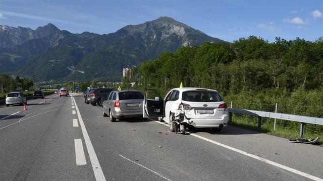 Il lieu da l'accident.