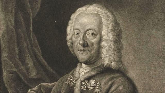 Der Komponist Georg Philipp Telemann, gesehen von Valentin Daniel Preisler.