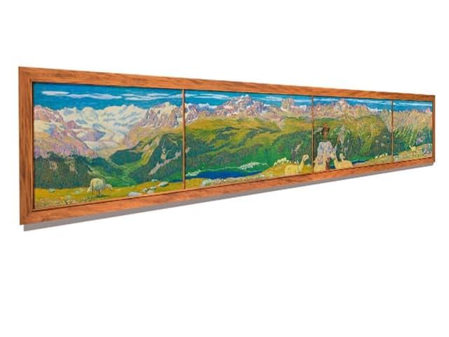 Komplettansicht Giacomettis Gemälde
