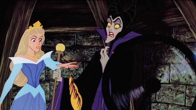 Maleficent und Dornröschen im Zeichentrick-Klassiker «Sleeping Beauty» (1959).