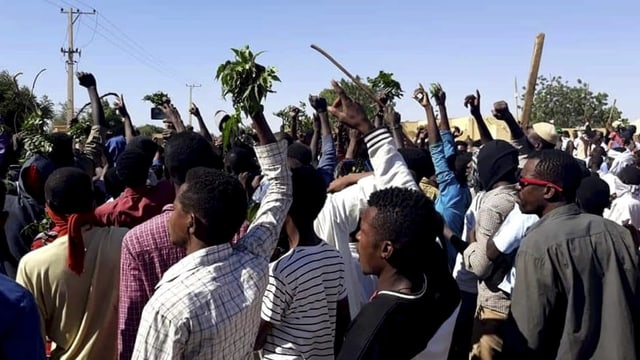 Sudanais tar protests