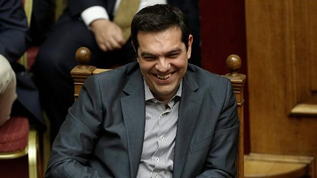 Tsipras im Parlament.