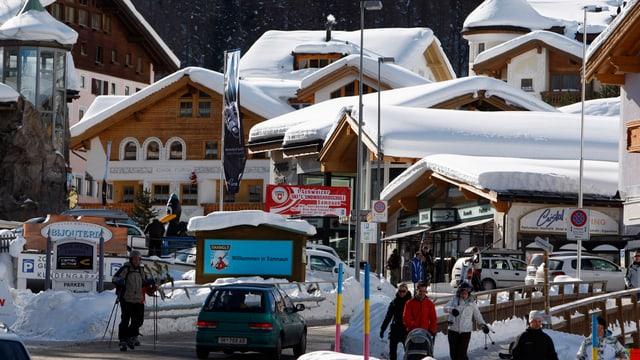 Blick auf das Dorf Samnaun.