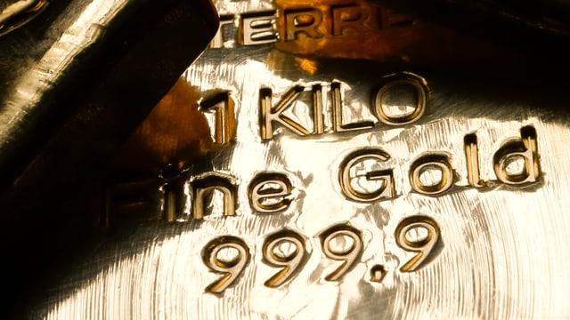 Goldbarren von einem Kilo in der Münze Österreichs.