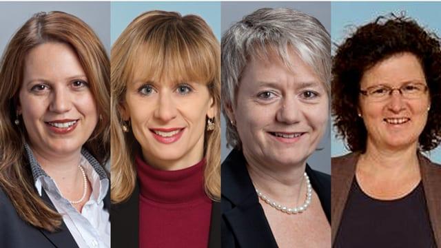 Chantal Galladé, Priska Seiler Graf, Jacqueline Fehr und Sabine Sieber Hirschi.
