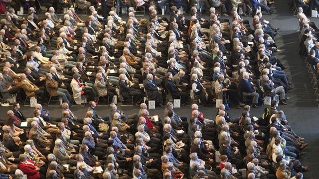 Aktionäre an einer Generalversammlung
