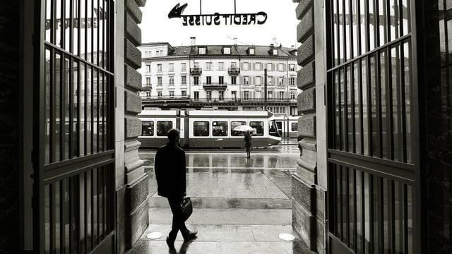 Banken in Zürich.