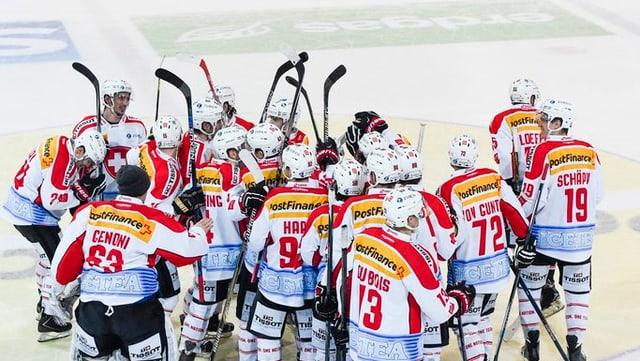 L'equipa naziunal svizra da hockey sa legra ch'il cletg è stà da lur vart.