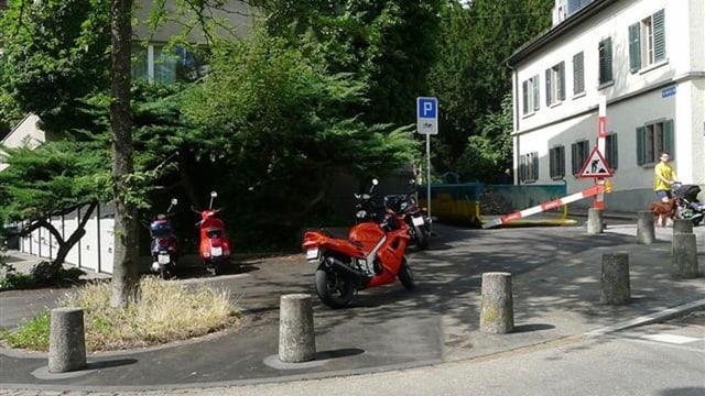 Töff-Parkplatz