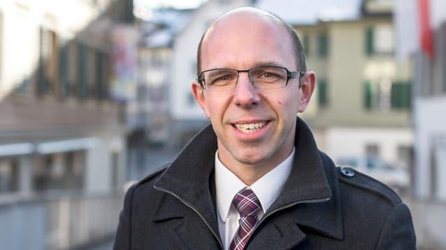 Porträt des Obwaldner CVP-Regierungsrats Christoph Amstad.