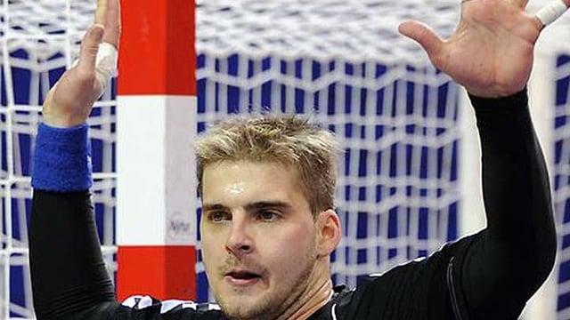 Der tschechische Goalie Martin Galia