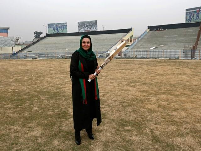 Afghanische Cricket-Spielerin