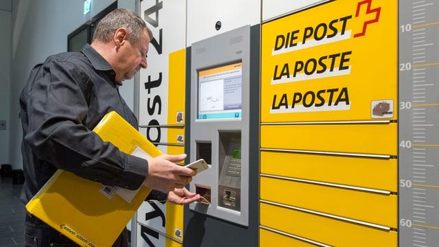 In client trametta in pachet tar ina spurtegl modern da la Posta.