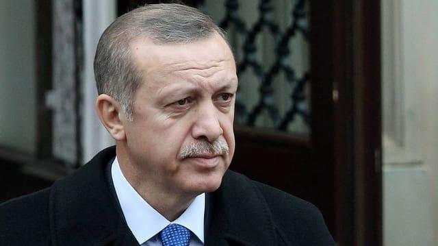Porträt von Erdogan.