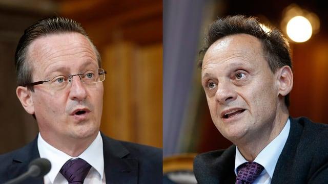 Ils Cussegliers dals chantuns Stefan Engler (PCD) e Martin Schmid (PLD) fan communablamain cumbat electoral.