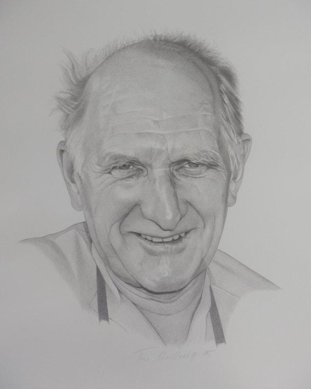 Illustration mit dem Porträt eines zufriedenen Mannes.