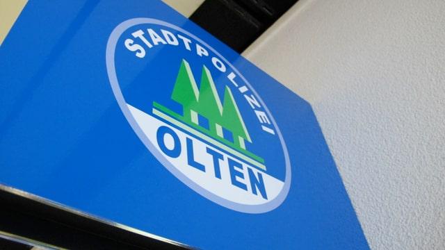 Schild der Stadtpolizei Olten