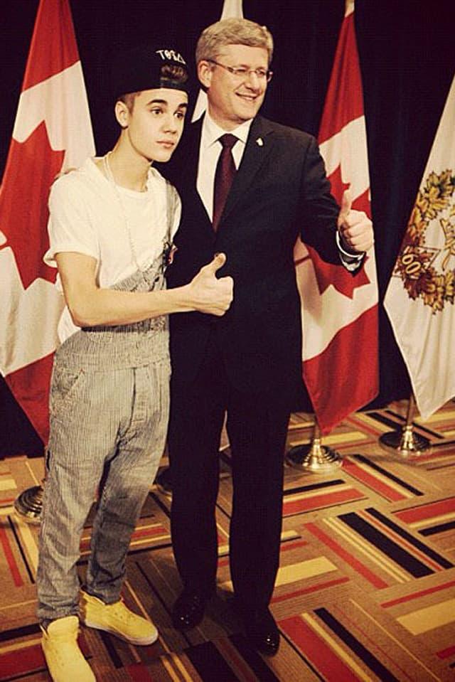 Justin Bieber und Stephen Harper