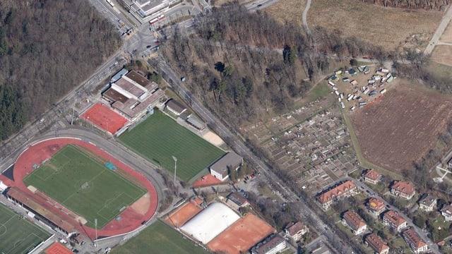Luftbild des betroffenen Areals.