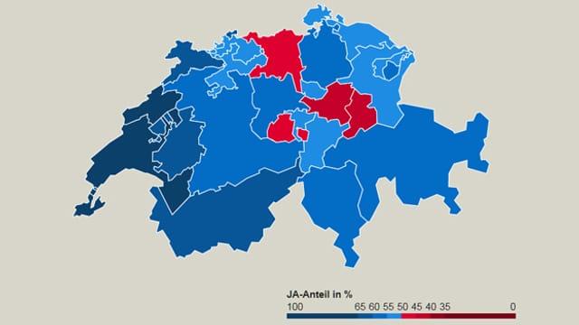 So haben die Kantone abgestimmt – Grafik.