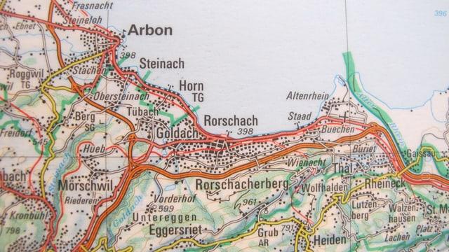 Ausschnitt Karte Rorschach