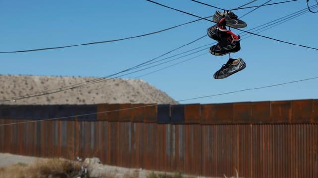 Mauer an der Grenze zu Mexiko