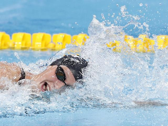Eine Schwimmerin.