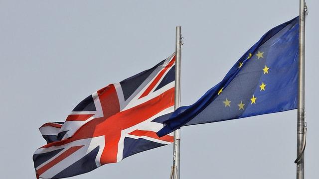 Bandiera da l'Engalterra sper ina da l'UE.
