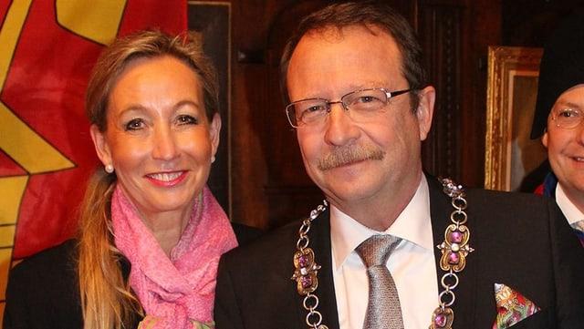 Der Fritischivater 2017 Rolf Willimann und seine Frau Heike.