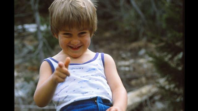 Michael Brunner als Kind.