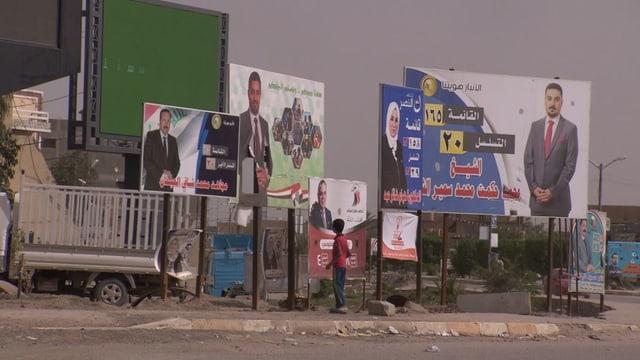 Übersicht Wahlplakate