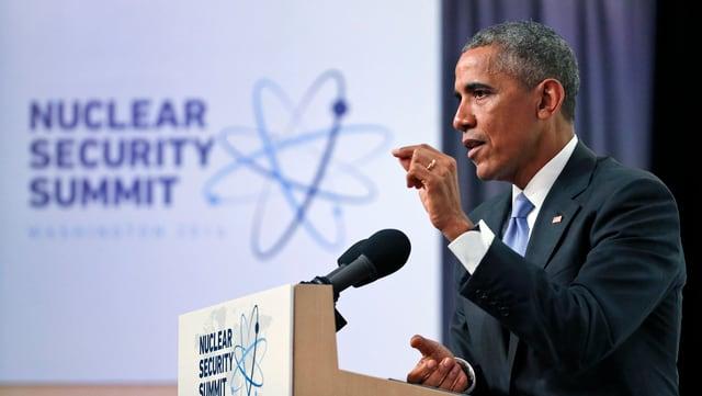 Il president american Obama discurra.