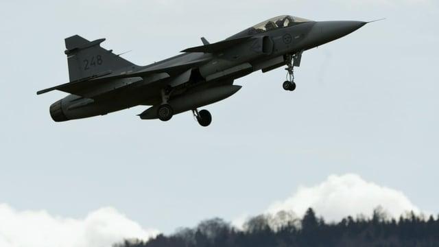 Kampfflugzeug im Steigflug