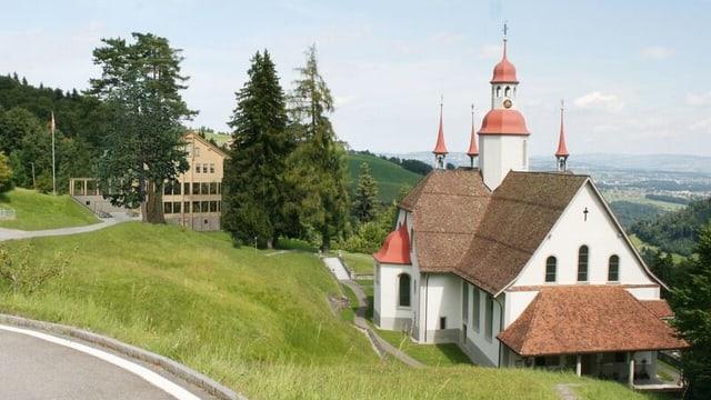 Visualisierung des geplanten Neubaus neben der Kirche